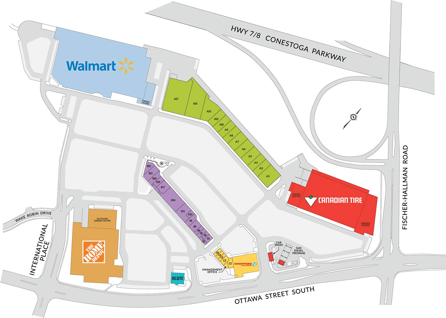 Sunrise Shopping Centre Mall Map